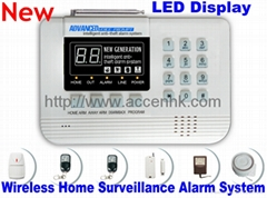 Wireless Intelligent Anti-Theft Home Safe Surveillance LED Display Alarm System
