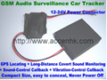 Car GSM Locator Indoor LBS Tracker Remote Surveillance Spy Audio Listening Bug