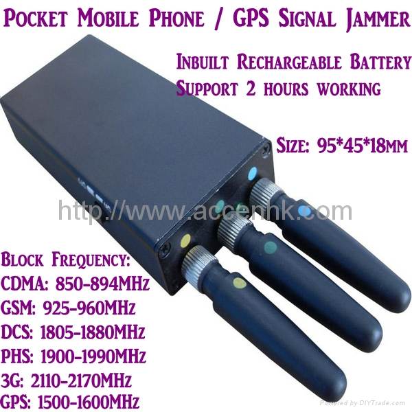 Mini Portable Mobile Phone Signal Jammer 3G/GSM/CDMA GPS Blocker Inbuilt Battery 1