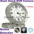 Mini Table Clock DVR Motion Detection Surveillance Hidden Camera Desk Spy Clock