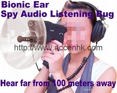 Bionic Ear Sound Recorder 100 meters headphone Spy Audio Listening Amplifier Bug