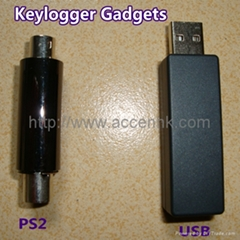 PS2 USB Hardware Spy Keylogger Plug on PC To Record Input Keystroke of Keyboard