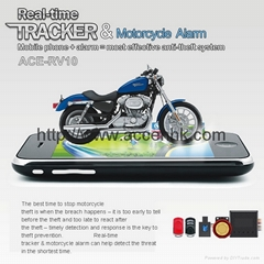 Motorcycle Car Anti-Burglar/Theft Alarm System GPS Tracker 2-Way Communication