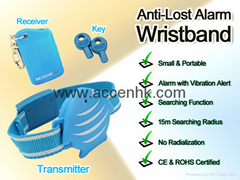 Wristband Anti-Theft Anti-Lost Alarm Child Pets Security Ring+Vibration Reminder