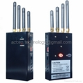 4 Antenna Portable Cell Phone 3G WIFI Signal Jammer Blocker W/ Separate Switch 4