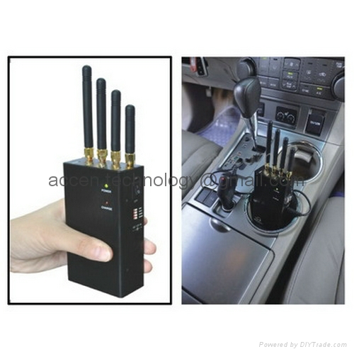 Cell phone video camera jammer , 5 Band 3G Mobile Phone Signal Jammer - Portable Jammer