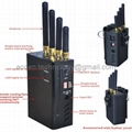 New 4 Antenna Handheld Mobile Phone 2G 3G 4G LTE Signal Jammer W/ Single Control