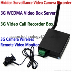 3G Video Call Camera Box Server Wireless Remote Monitor Hidden Surveillance DVR