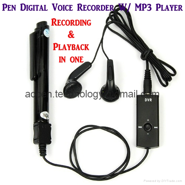 4GB/8GB Stereo Pen USB Digital Voice Recorder Audio Dictaphone W/ MP3 Playback