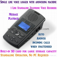 Standalone SD card Telephone Voice Recorder Auto Answer Machine & Audio Playback