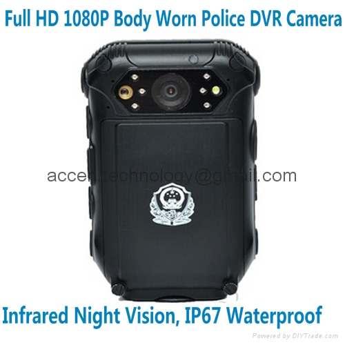 FHD 1080P Police Body Worn Camera Inbuilt GPS Night Vision Law Enforcement Patrol Camcorder