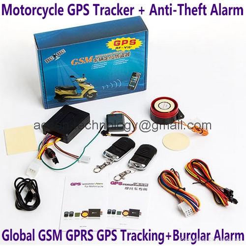 motorcycle gps tracker with burglar alarm