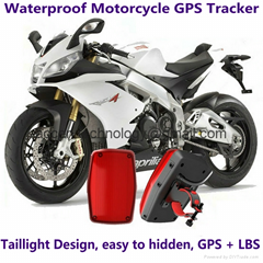 Waterproof Motorcycle GSM GPRS GPS Tracker LBS Locator 9~40V Support Alarm Siren
