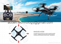 X5SW WIFI FPV Real-Time RC Drone 2.4G 4CH Headless RC Quadcopter Helicopter Model Toys W/ HD Camera