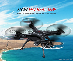 X5SW WIFI FPV Real-Time RC Drone 2.4G 4CH Headless Quadcopter Toys W/ HD Camera