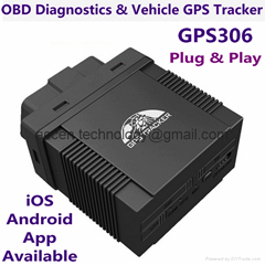 GPS306 OBD II Vehicle GPS Tracker Mini Car Diagnostics Tool W/ iOS/Android App