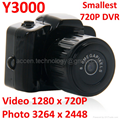 Wholesale Y3000 8MP Thumb Mini 720P DVR Camera Smallest Sports Spy Video Recorder PC Webcam