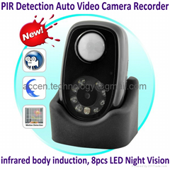 Q2 PIR Detector Home Security Mini Auto Video Camera Recorder DVR Night Vision