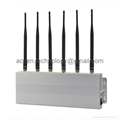 6 Antenna Desktop Cell Phone Signal Jammer Block GSM/CDMA/DCS/PHS/3G/4G LTE/WiMax All-In-One