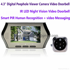 """NEW 4.3"""" Electronic Door Peephole Viewer Camera Home Security DVR Night Vision"""