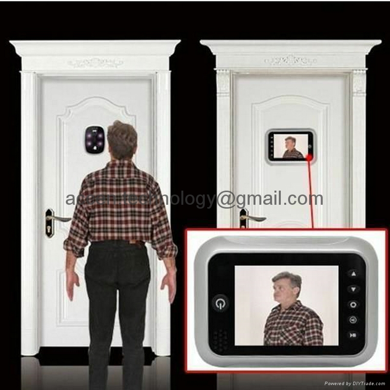 3.5 inch LCD Screen Digital Door Peephole Viewer Camera 120 Degree Wide Angle Video Doorbell Door & 3.5\