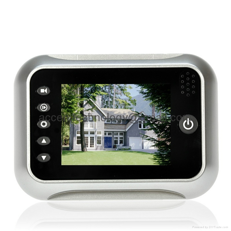 3.5 inch LCD Screen Digital Door Peephole Viewer Camera 120 Degree Wide Angle Video Doorbell Door Eye IR Night Vision Home Security Surveillance DVR