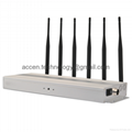 Cheap 6 Antenna 10W High Power Mobile Phone 2G GSM CDMA DCS PHS 3G 4G LTE WIMAX Jammer 15M Radius Isolator