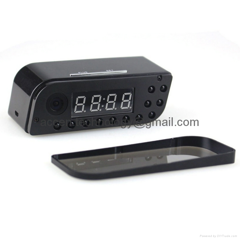 T8S 1080P Alarm Clock WIFI P2P Spy Hidden CCTV Camera Home Security