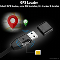 USB Cable (android or apple) Inbuilt GPS module for positiong & GSM SIM Audio Transmitter