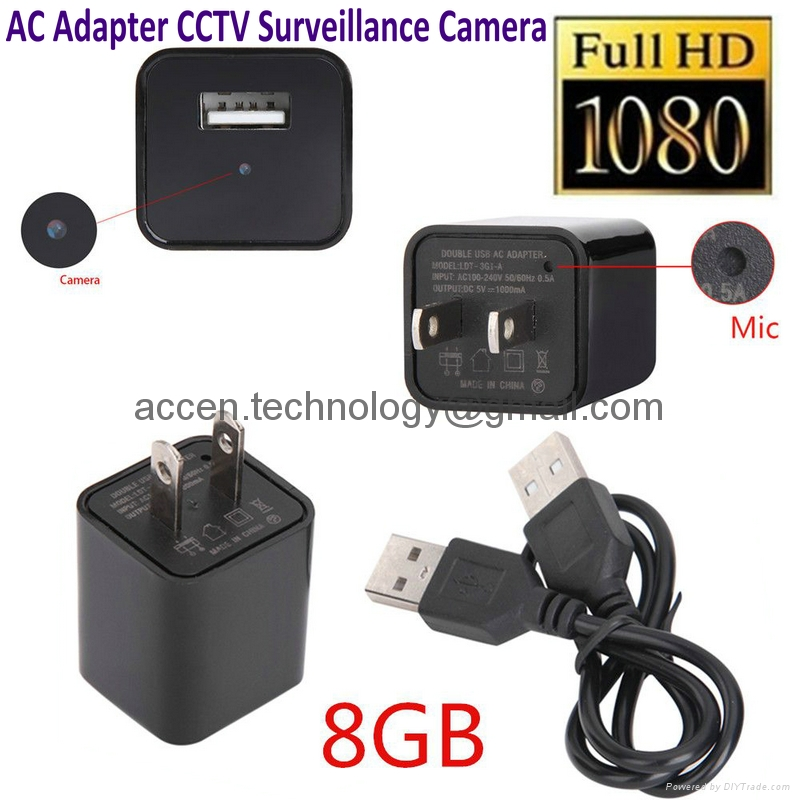 1080P USB Mini SPY Camera Hidden Wall Charger Recorder FULL HD Cam EU 10PCS