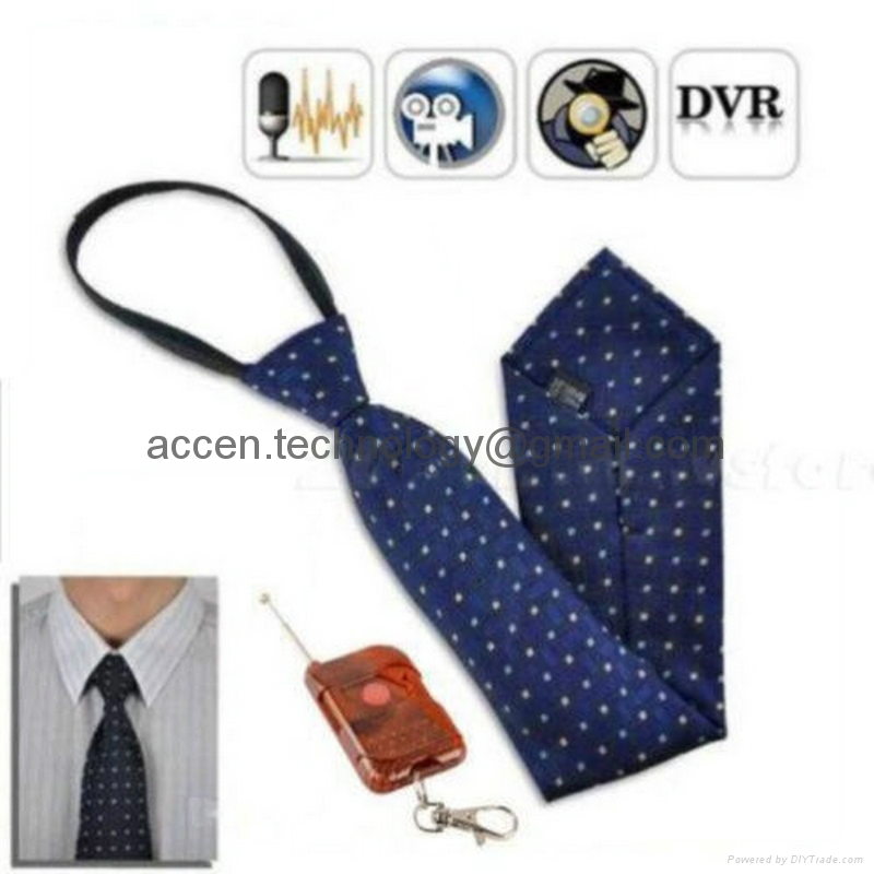 Remote Control HD 1080P 8GB Dressing Necktie Spy Hidden Camera Wearable Covert DVR Recorder