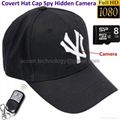 8GB 1080P HD Hat Mini Spy Hidden Camera Remote Control Cap Covert Digital Audio Video Recorder