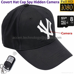 8GB HD Hat Spy Hidden Camera Remote Control Cap Covert Digital Video Recorder