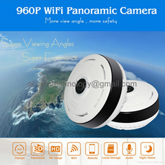 EC6 960P 1.3MP 360° Full View WIFI IP Camera IR LED Fisheye P2P W/ 2-Way Contact