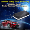 Universal Mini GSM GPS Tracker Person Car Pet Animal Vehicle GPS Tracking Device Locator with 5000mAh battery for 60-day standby, Android/iOS App & PC Online Platform Tracking, Waterproof & High Accuracy