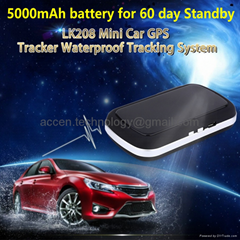 Universal Mini GSM GPS Tracker LK208 W/ 60day standby & report position to phone