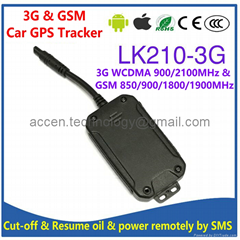 3G WCDMA GSM Car GPS Tracker Locator LK210-3G Cutoff Oil & Power Remotely By SMS