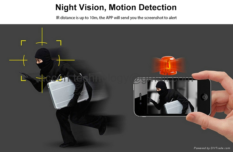 EC8 720P Fisheye 180 degree Panoramic WIFI Wireless IP P2P Camera CCTV Surveillance Two-Way Audio IR Night Vision Motion Detection iOS/Android 360Eyes APP Push for home security remote surveillance