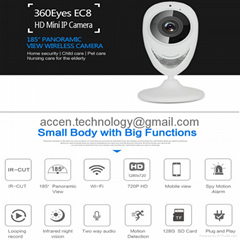 EC8 HD 720P Mini Wifi IP Camera Wireless P2P Baby Monitor Network CCTV Security