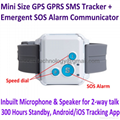 V16 Mini GPS GPRS SMS Tracker 2-way Talk