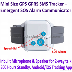 V16 Mini GPS GPRS SMS Tracker 2-way Talk Watch SOS Communicator Android IOS App