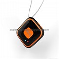 Mini Pendant SOS Personal Alarm Mini GPS Tracker Locator Fall Detection Push Sound Alarm by Android IOS APP on mobile phone two-way audio communication for elderly kids disabled Alzhemer s safety