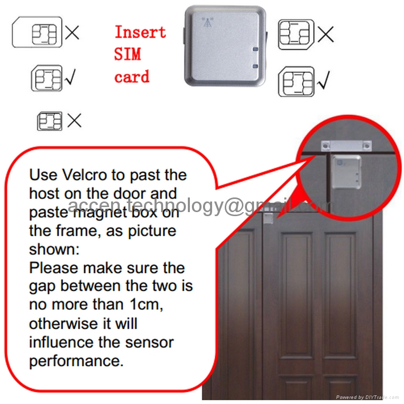 GSM Smart Door Window Open/Close Magnetic Sensor Alarm Home Security Access Magnetic Detector Alarm Voice/Vibration Trigger SMS App Push to Smartphone, GSM LBS Locator & Spy Hidden GSM Sound Pickup Remote Sound Transmitter Listening Monitoring Bug