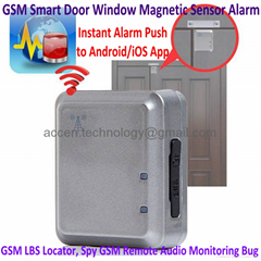 GSM Smart Door Window Magnetic Sensor Alarm Home Security Access SMS App Alert
