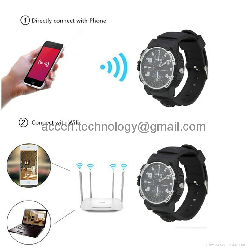 Y31 720P WIFI IP Watch Remote Monitoring Camera Night Vision Spy Watch Camera