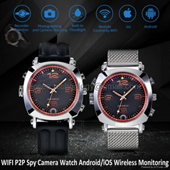 8G WIFI P2P Spy Camera Recorder Watch iOS/Android Wireless Remote Monitoring DVR