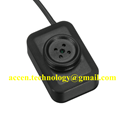 W1 1080P FHD Mini Spy Button Camera Wearable Hidden Pinhole DVR W/ 145cm Power Cord Nonstop Loop Recording