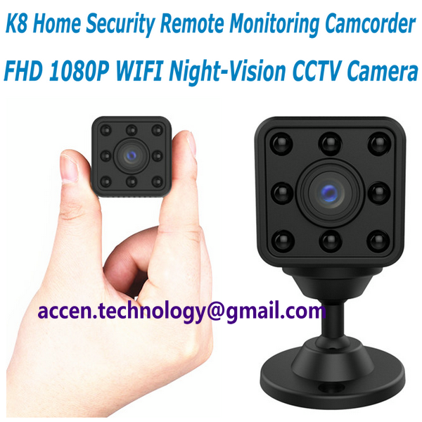 K8 Home Security Wireless Mini IP Camera Surveillance Camera Wifi 1080P Night Vision CCTV Camera Baby Monitor