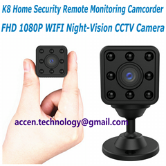 K8 New Mini 1080P WIFI IP wireless remote surveillance Camera CCTV Baby Monitor