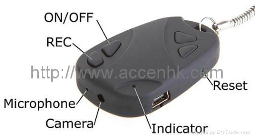 Mini Car-Key DVR with Hidden Camera for covert evidence video recording 2